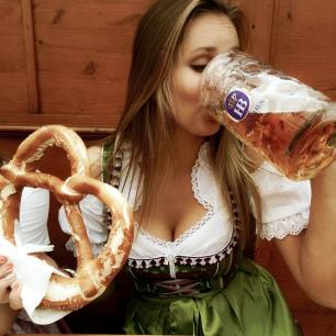 Enjoying Oktoberfest to the fullest