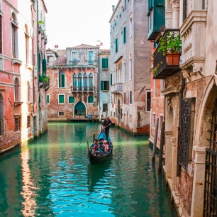 Floating through the beautiful canals of Venice