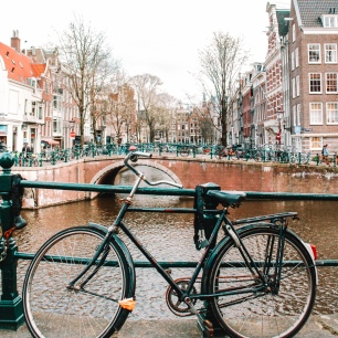 Stopping along my bike ride for photos of Amsterdam